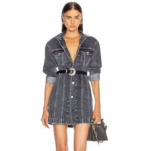 NWT Helmut Lang Femme Trucker Dress Midnight Stone